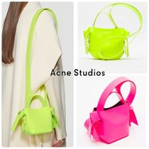 Acne Casual Style 2WAY Plain Leather Elegant Style Shoulder Bags