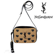 Saint Laurent Heart Casual Style Crossbody Logo Shoulder Bags