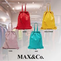 Max&Co. Casual Style Blended Fabrics Bag in Bag 2WAY Plain Leather