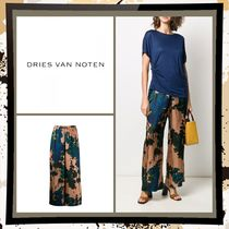 Dries Van Noten Flower Patterns Casual Style Plain Long Party Style