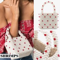Shrimps Dots Casual Style Party Style Handbags