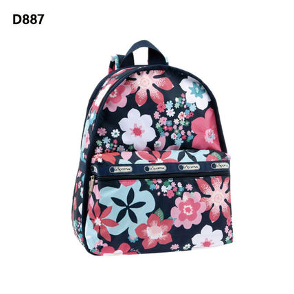 Flower Patterns Casual Style Unisex Street Style A4 Satchels