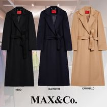 Max&Co. Casual Style Wool Blended Fabrics Plain Medium Office Style