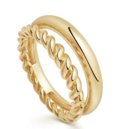 Costume Jewelry Casual Style Unisex Silver 18K Gold Rings