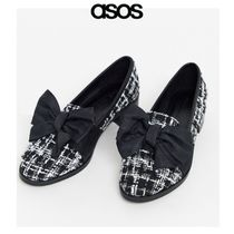 ASOS Other Check Patterns Round Toe Casual Style Tweed