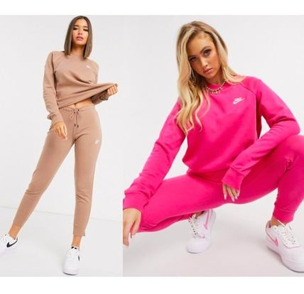 Sweat Bi-color Long Sleeves Cotton Oversized Co-ord Logo