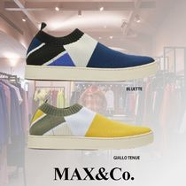 Max&Co. Round Toe Casual Style Blended Fabrics Low-Top Sneakers