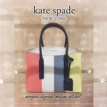 kate spade new york MARGAUX Stripes Casual Style 2WAY Leather Elegant Style Crossbody