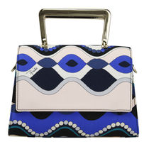 Emilio Pucci 2WAY Party Style Elegant Style Shoulder Bags