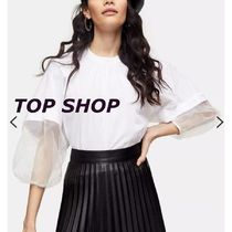 TOPSHOP Casual Style Long Sleeves Plain Cotton Medium Party Style