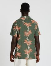 BANKS Flower Patterns Street Style Cotton Short Sleeves Shirts