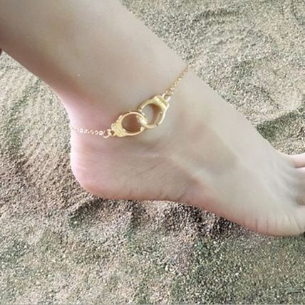 Casual Style Unisex Street Style Silver Anklets