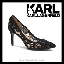 Karl Lagerfeld Flower Patterns Leather Party Style Elegant Style