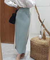 Pencil Skirts Stripes Casual Style Long Maxi Skirts