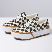 VANS ERA Unisex Suede Street Style Plain Deck Shoes Logo