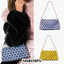 Shrimps Flower Patterns Party Style Handbags