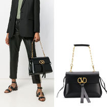 VALENTINO VRING Leather Shoulder Bags
