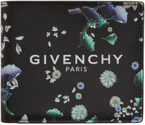 GIVENCHY Flower Patterns Unisex Calfskin Street Style Folding Wallet