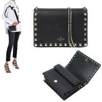 VALENTINO Casual Style Calfskin Street Style Party Style Office Style