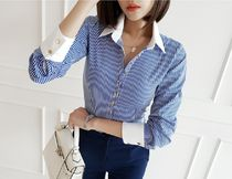 gumzzi Stripes Casual Style Long Sleeves Medium Party Style