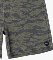 RVCA Printed Pants Camouflage Street Style Joggers Shorts