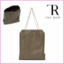 The Row Chain Plain Leather Elegant Style Handbags