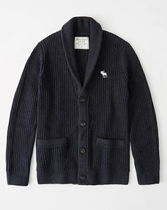Abercrombie & Fitch Plain Cotton Surf Style Cardigans