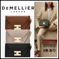 DEMELLIER Casual Style 3WAY Plain Leather Party Style Office Style