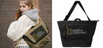 NATIONAL GEOGRAPHIC Unisex Studded Street Style Plain Bags