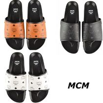 MCM Unisex Street Style Leather Sandals