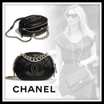 CHANEL Casual Style Lambskin Studded Elegant Style Shoulder Bags