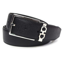 Salvatore Ferragamo Bi-color Leather Long Belt Logo Belts