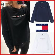 Tommy Hilfiger Unisex Street Style Long Sleeves Cotton Long Sleeve T-shirt