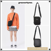 GROOVE RHYME Casual Style Unisex Street Style Shoulder Bags