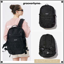 GROOVE RHYME Casual Style Unisex Street Style Backpacks