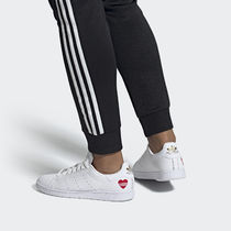 adidas STAN SMITH Heart Blended Fabrics Street Style Sneakers