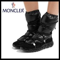 MONCLER Suede Plain Ankle & Booties Boots