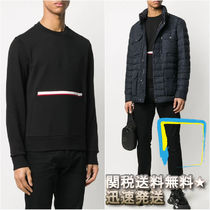 MONCLER Crew Neck Pullovers Stripes Street Style Long Sleeves Plain