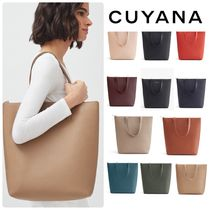 CUYANA Casual Style A4 Plain Leather Office Style Elegant Style