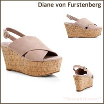 DIANE von FURSTENBERG Plain Platform & Wedge Sandals