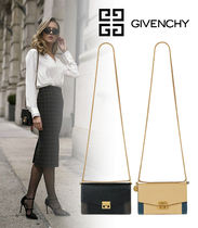 GIVENCHY 2WAY Bi-color Plain Leather Party Style Elegant Style Bridal
