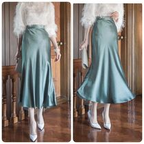 DINT Flared Skirts Long Party Style Elegant Style Maxi Skirts