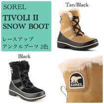 SOREL Round Toe Rubber Sole Lace-up Casual Style Unisex Suede