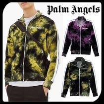 Palm Angels Stripes Unisex Street Style Tie-dye Logo Track Jackets