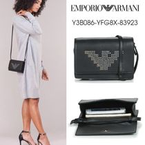 EMPORIO ARMANI Casual Style Blended Fabrics Studded Party Style