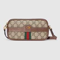 GUCCI Ophidia Canvas Leather Crossbody Shoulder Bags