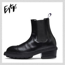 Eytys Casual Style Unisex Plain Leather Chelsea Boots