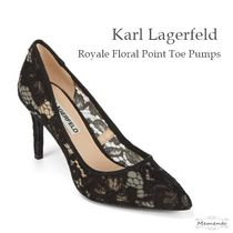 Karl Lagerfeld Flower Patterns Pointed Toe Pumps & Mules