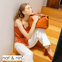 nat&nin Casual Style 2WAY Leather Elegant Style Shoulder Bags