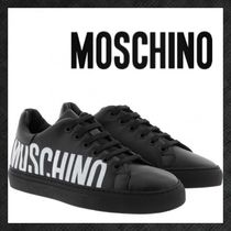 Moschino Round Toe Rubber Sole Lace-up Casual Style Unisex Plain